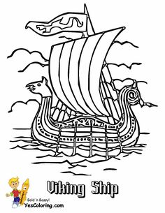 coloring buddy mike recommends viking battle ship coloring page at yescoloringslide