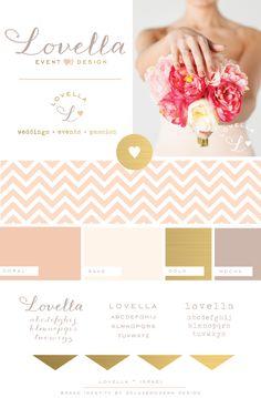 Brand Identity for Lovella Event Design • Israel   Deluxemodern Design