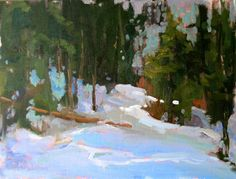 Lori Putnam, Snow Drifts, oil on canvas, 12x16