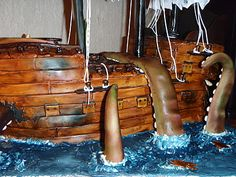 Pirate ship cake tutorial- going to use the some of the tips from this