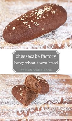 The Cheesecake Factory honey wheat brown bread recipe. Spot on copycat recipe, it's incredible! This is seriously the best bread ever! The Cheesecake Factory, Bread Machine Recipes, Easy Bread Recipes, Cooking Recipes, Honey Recipes, Cooking Tips, Squaw Bread Recipe For Bread Machine, Kraft Recipes, Quick Bread