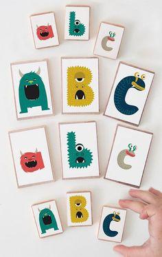 Printable Monster Alphabet: