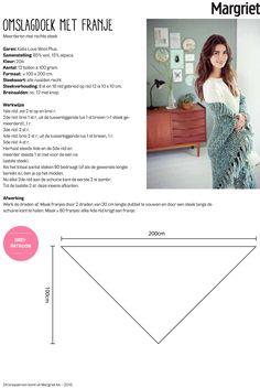 m44-breien_online_omslagdoek.jpg (2179×3252) Knit Wear, Knit Crochet, Weaving, Knitting, Tricot Crochet