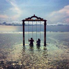 Gili Trawangan Indonesia  #gilitrawangan #gilitrawanganisland #giliT #indonesia #lombok #bali #swing #water #travel #instatravel #travelporn #travelphotography #vacation #happy #love #view #sun #sea #asia #seasia #honeymoon #break #sand #fun by ilikewandering http://bit.ly/AdventureAustralia