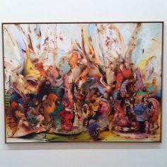 #alibanisadr #ropac #thaddaeusropac #paris #painting - Ali Banisadr - In Media Res by elysiachloro