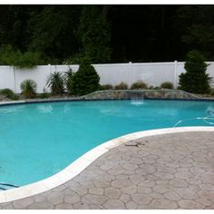 The pool is open and frigid.