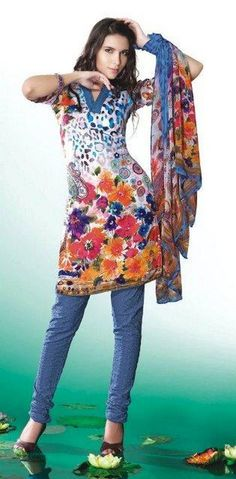 Casual Printed Shalwar Kameez Collection 2012 For Summer 009