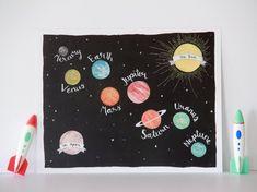Baby Nusery Decor Art Print Planets Galaxy Design - Solar System Galaxy Art Print- 8x10 or 11x14