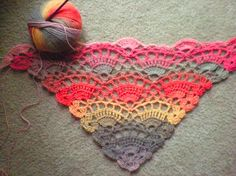 ✔ SHAWL OF CROCHET INSTRUCTIONS  (This pattern is available as a free download Ravelry) ...