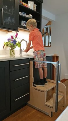 This is the Hideaway Solutions Step 180 Cabinet Step Stool. This is the Hideaway Solutions Step 180 Cabinet Step Stool. Kitchen Corner, Kitchen Sets, Ikea Kitchen, Kitchen Decor, Kitchen Robot, Kitchen Grill, Kitchen Mixer, Kitchen Ware, Kitchen Stools