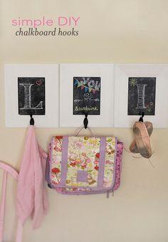 DIY :: How to Make Framed Chalkboard Hooks