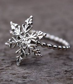 Snowflake Ring Filigree Snowflake Sterling