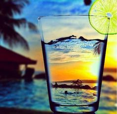 And I drank the sun and the sea!