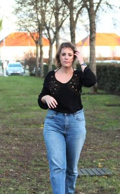Jeans Mum @H&M Bottines @TOPSHOP Robe @PULL&BEAR