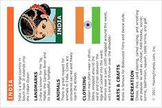 India Thinking Day Passport Insert
