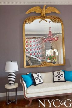 Home Is Where the Heart Is Designer Showhouse; #showhouse #NYC&G; Entry Foyer by Kim E. Courtney Interiors