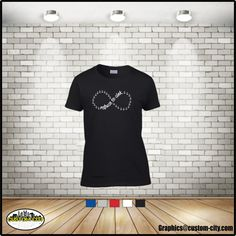 refuse to sink t-shirt infinity anchor shirt , unisex adult shirts, women t-shirt, ladies tops, girls t-shirt, available in plus size 5x - http://Www.Etsy.com/shop/customcityink