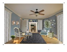 """""""Serenity"""" by colleenbee ❤ liked on Polyvore featuring interior, interiors, interior design, home, home decor, interior decorating, Crate and Barrel, John Robshaw, Wedgwood and High Fashion"""