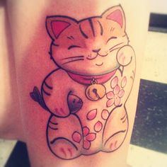 Lucky cat - pussykat tattoo Las Vegas