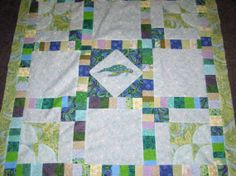 baby quilts turtles | Items similar to Sea Turtle and Fish Baby Quilt by custom order on ...