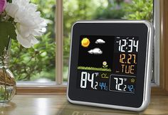 Wireless Color Weather Forecast Station #tech #gadgets