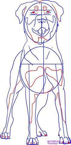 How to draw a Manga Rottweiler