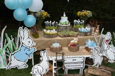 Peter Rabbit themed 1st birthday party via Kara's Party Ideas KarasPartyIdeas.com Printables, tutorials, cake, decor, cupcakes, recipes, favors, etc! #peterrabbit #peterrabbitparty #beatrixpotter (22)