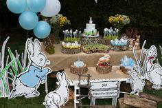 Peter Rabbit themed 1st birthday party via Kara's Party Ideas KarasPartyIdeas.com Printables, tutorials, cake, decor, cupcakes, recipes, favors, etc! #peterrabbit #peterrabbitparty #beatrixpotter (22)
