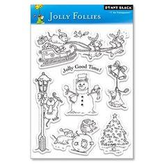 www.simonsaysstamp.com  PENNY BLACK - JOLLY FOLLIES CHRISTMAS HEDGY - 30-038 /1.8