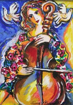 Zamy Steynovitz - Cellist with Doves
