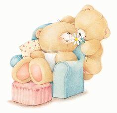 Florynda del Sol ღ☀¨✿ ¸.ღ Anche gli Orsetti hanno un'anima…♥ Tatty Teddy, Friend Cartoon, Teddy Bear Pictures, Hello Kitty Plush, Blue Nose Friends, Bear Illustration, Friends Image, Love Bear, Cute Teddy Bears