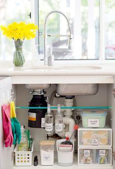 Under Kitchen Sink Storage Ideas . Under Kitchen Sink Storage Ideas . How to organise Under the Kitchen Sink Cupboard Under Kitchen Sinks, Under Kitchen Sink Organization, Kitchen Cupboards, Diy Kitchen, Organization Ideas, Kitchen Ideas, Ikea Under Sink Storage, Cleaning Cupboard Organisation, Storage Ideas