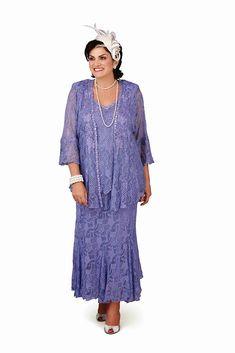 58234112ac Ann Balon Greta Full Length Lace 3 Piece Outfit Waterfall Jacket