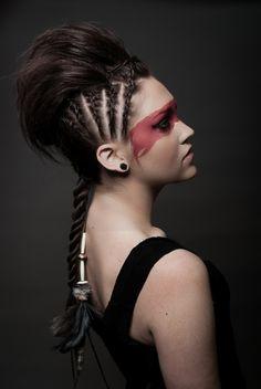 cool halloween makeup warrior - Google Search