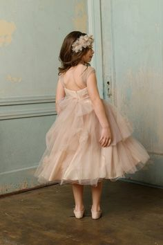 blush flower girl | bhldn colette