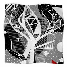 "East Urban Home 'Geometric Play' By Marianna Tankelevich Fleece Blanket Size: 80"" L x 60"" W x 1"" D"