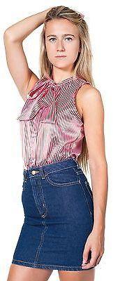 American Apparel RSADM302 High-Waist Denim Mini Skirt