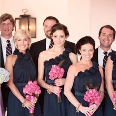 Wedding Colors | Navy Blue + Pink!