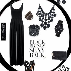 "Let's face it ladies black will always be our ""staple"" and go to shade! It's flatters every shape and is slenderizes our problem areas. We love black! We also love black jewelry. There is a certain ""regalness"" in black #jewelry. It's chic classy commanding. #Black is sexy! Shop our black fashion #accessories and #handbags. The link is in our profile. #fashionjewelry #treasuredcosmojewels #twitter #necklaces #rings #statementjewelry"