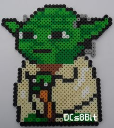 star wars yoda b gelperlen vorlage perler bead pattern. Black Bedroom Furniture Sets. Home Design Ideas