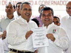 Cancún.- Mauricio Góngora ya es candidato a gobernador de Quintana Roo por el PRI, tras el voto unánime de los delegados priístas en su favor y por tomar protesta ante el presidente del Comité Ejecutivo Nacional del PRI Manlio Fabio Beltrones Rivera