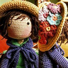 Diy Crochet Toys, Crochet Dolls, Easy Crochet, Crochet Projects, Knit Crochet, Crochet Hats, Amigurumi Patterns, Amigurumi Doll, Little Girls