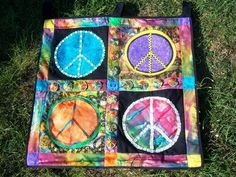I made this for a friend who is a peace loving hippy girl! I love the way it came out this was much larger then it looks
