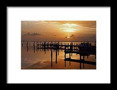 pier, sunset, reflection, silhouette, pineland, florida, landscape, nature, michiale schneider photography