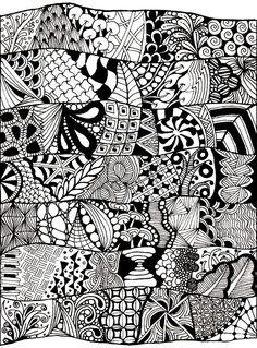 Colorear para adultos : Anti-stress / Zen - 60 - Esta imagen contiene : AbstractoDesde la galería : Anti Stress