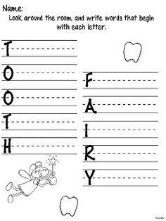 Tooth Fairy {with a freebie} and Exciting News as seen on Kindergarten Klub  www.kindergartenklub.com