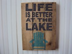 Reclaimed wood Sign by RusticWoodsCompany on Etsy, $28.00