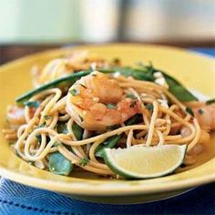 Shrimp Pad Thai - This Thai noodle specialty is a speedy one-dish meal. For a twist, substitute rice noodles or sweet potato noodles from the Asian market for the spaghetti.