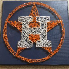 MADE TO ORDER  Houston Astros String Art by StringsbySamantha