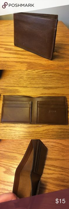 J Crew Brown Leather Wallet Brand new, never used J. Crew Accessories Money Clips